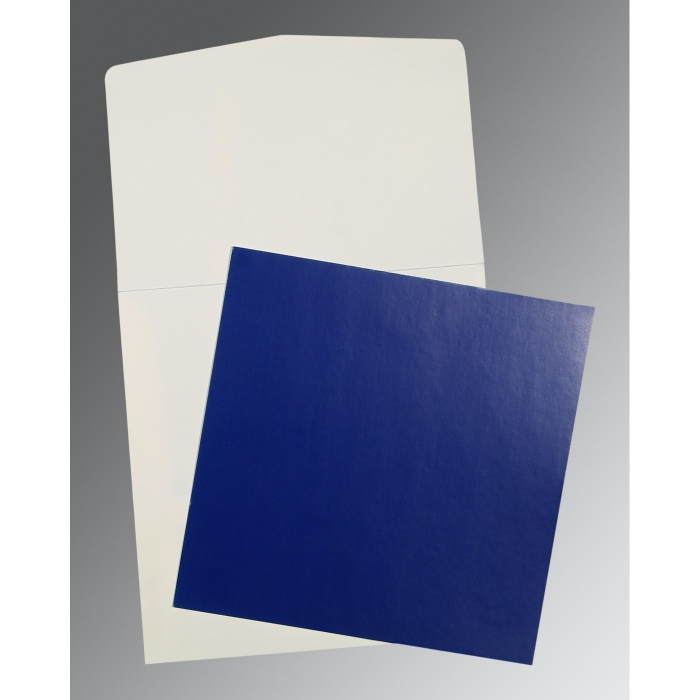 Blue Glossy Wedding Card : AP-0016 - A2zWeddingCards