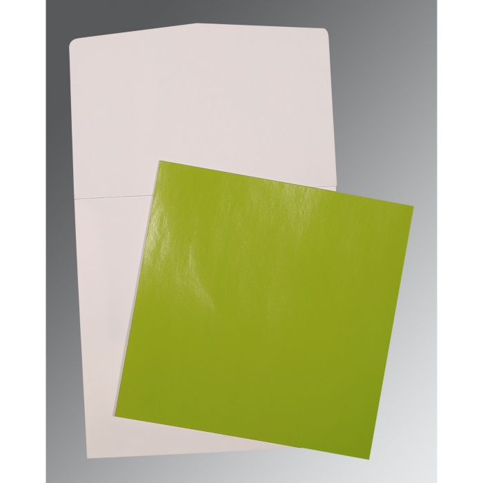Green Glossy Wedding Card : AP-0017
