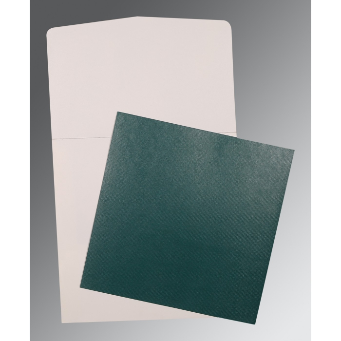 GREEN SHIMMERY PERSONAL CARDS : AP-0019 - A2zWeddingCards