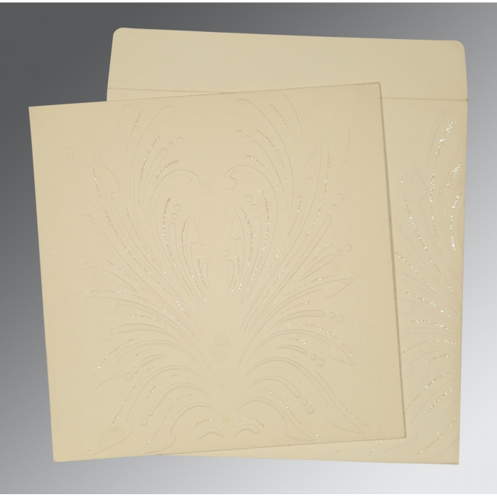 Ivory Matte Embossed Wedding Invitation : AD-1188 - A2zWeddingCards