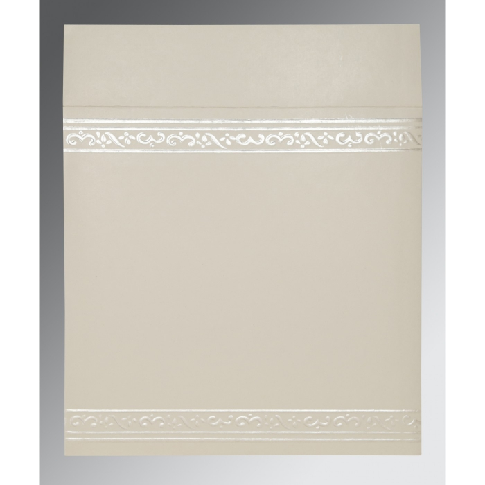 Ivory Matte Embossed Wedding Invitation : AIN-2016 - A2zWeddingCards