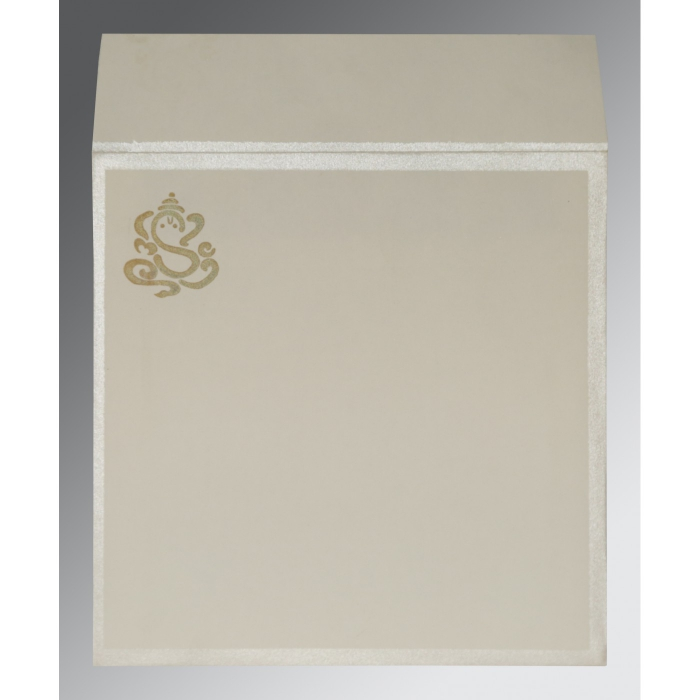 Ivory Matte Embossed Wedding Invitation : AIN-2040 - A2zWeddingCards