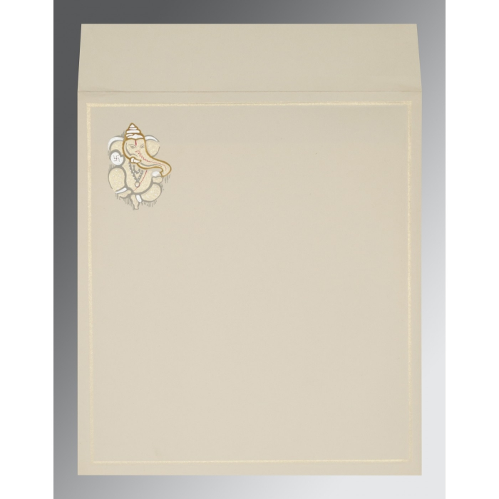 OFF-WHITE MATTE EMBOSSED WEDDING INVITATION : AW-2068 - A2zWeddingCards