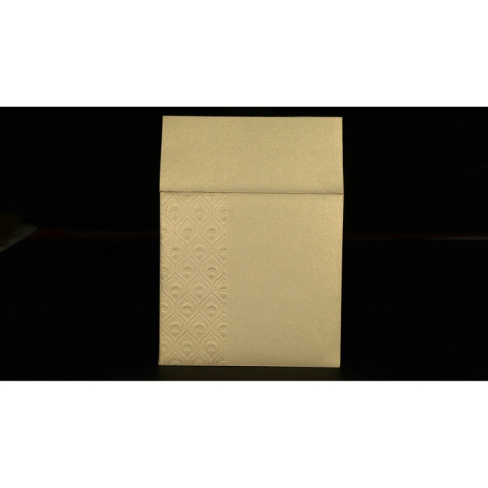 KHAKI SHIMMERY FOIL STAMPED PERSONAL CARDS : AP-1506 - A2zWeddingCards