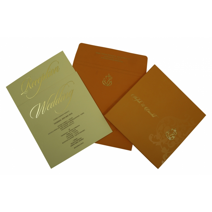 COPPER MATTE BOX THEMED - SCREEN PRINTED WEDDING INVITATION : AD-1831 - A2zWeddingCards