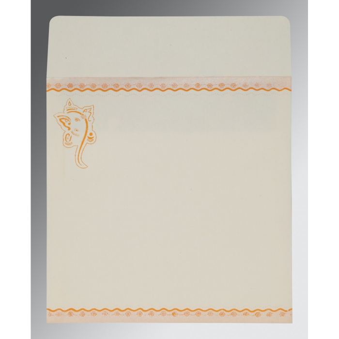 Orange Matte Embossed Wedding Invitation : AW-2214 - A2zWeddingCards