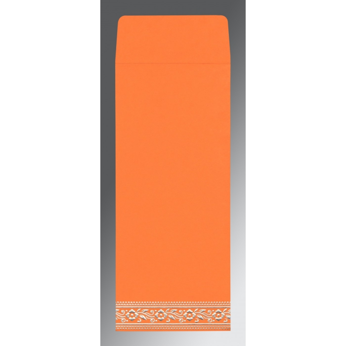 Orange Wooly Screen Printed Wedding Invitation : ARU-8220F - A2zWeddingCards