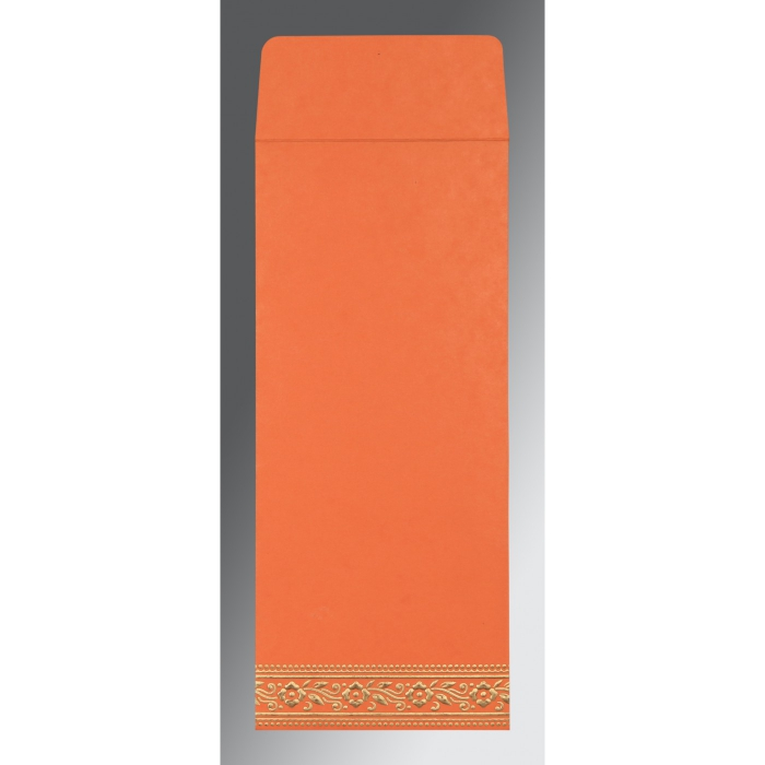 Orange Wooly Screen Printed Wedding Invitation : ARU-8220N - A2zWeddingCards