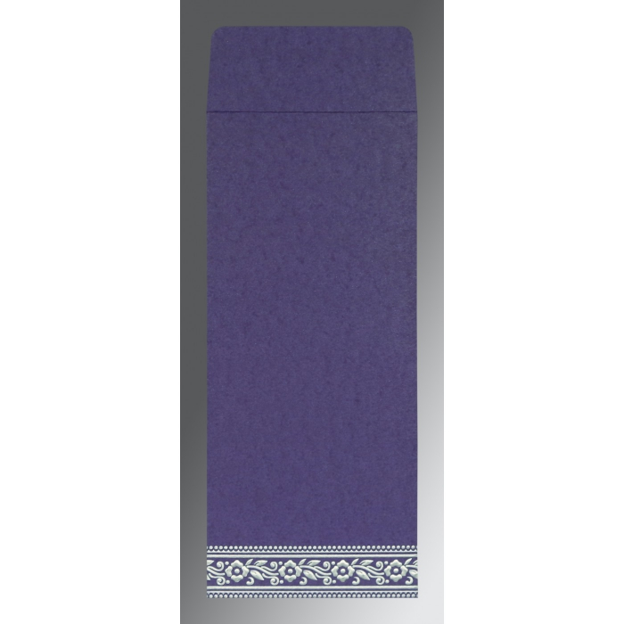 Purple Wooly Screen Printed Wedding Invitations : AI-8220P - A2zWeddingCards