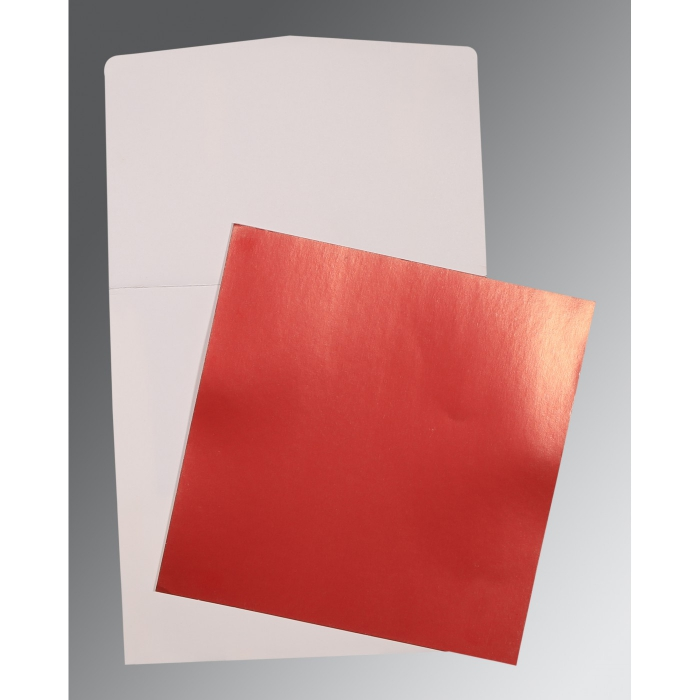 Red Glossy Wedding Card : AP-0020 - A2zWeddingCards