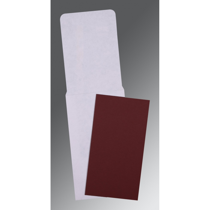 MAROON MATTE PERSONAL CARDS : AP-0026 - A2zWeddingCards