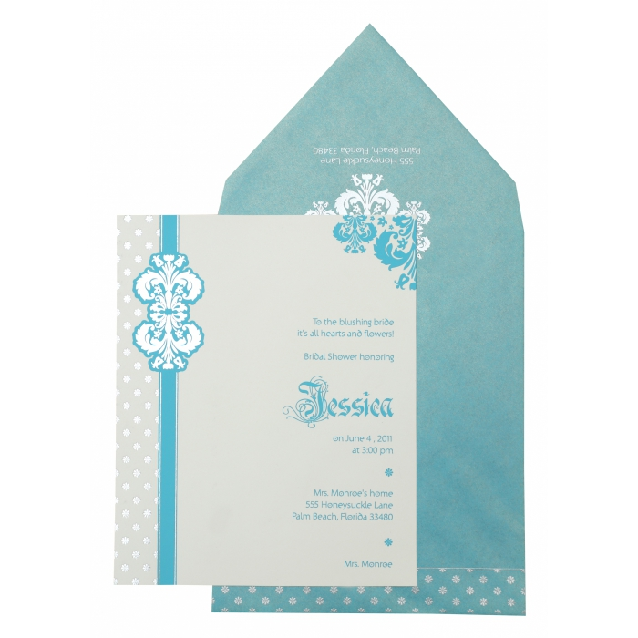 WHITE MATTE FOIL STAMPED PARTY CARDS : APY-877 - A2zWeddingCards