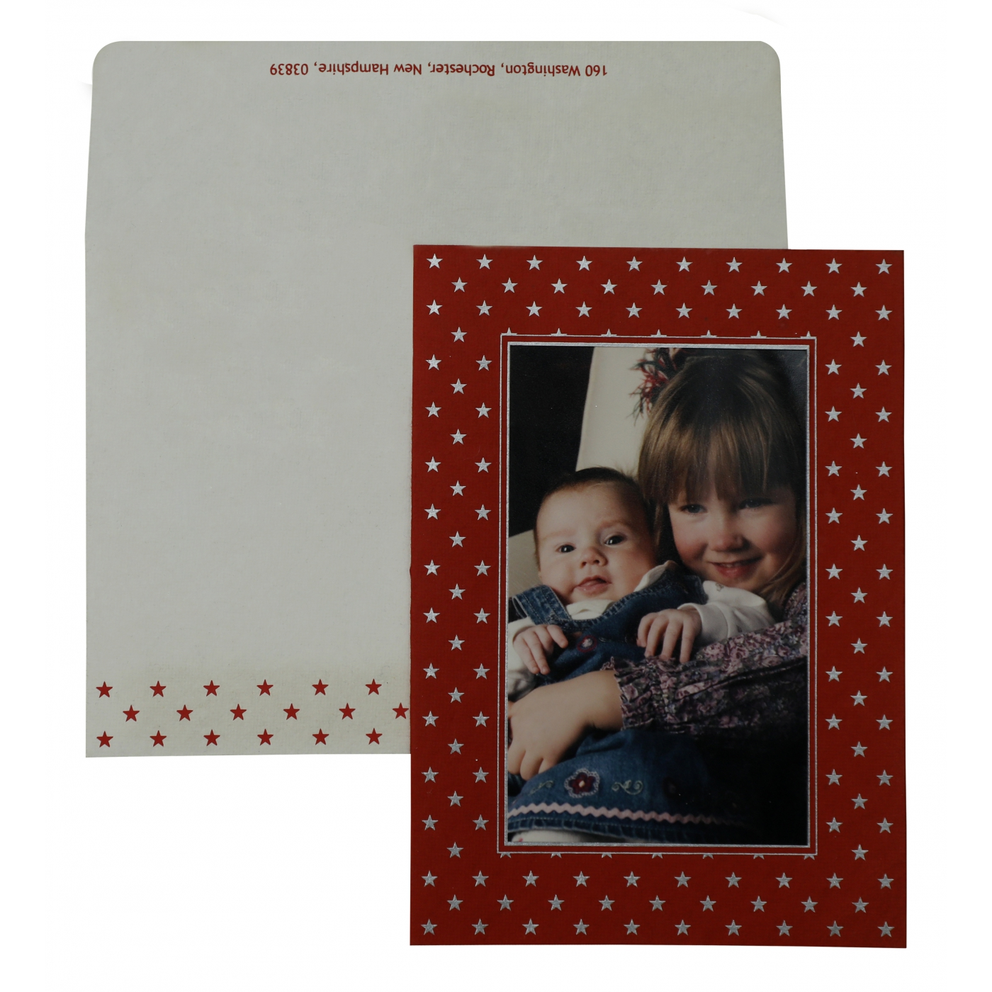 RED HANDMADE COTTON DAMASK THEMED - SCREEN PRINTED HOLIDAY CARDS : AH-859 - A2zWeddingCards