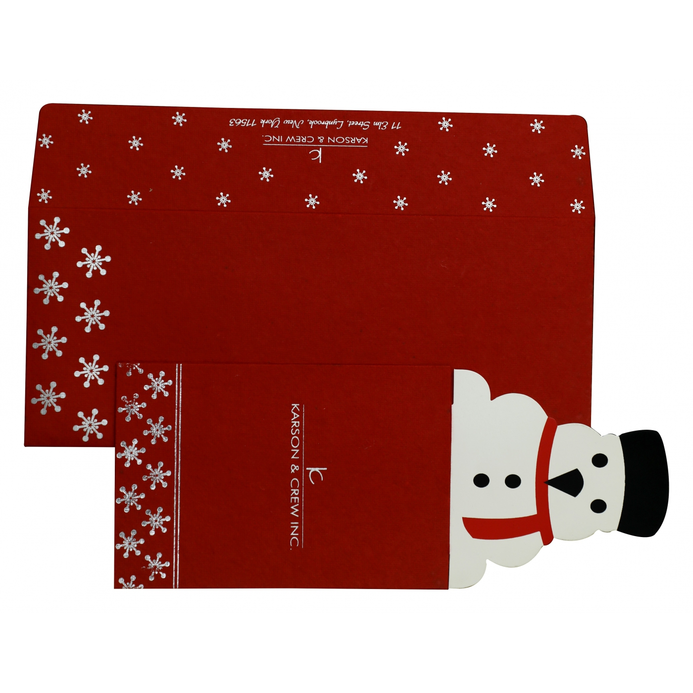 RED HANDMADE COTTON UNIQUE THEMED - FOIL STAMPED HOLIDAY CARDS : AH-846 - A2zWeddingCards