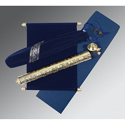 Blue Velvet Wedding Invitations : ASC-5005F - A2zWeddingCards