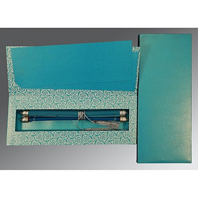 Blue Velvet Wedding Invitations : ASC-5009F - A2zWeddingCards