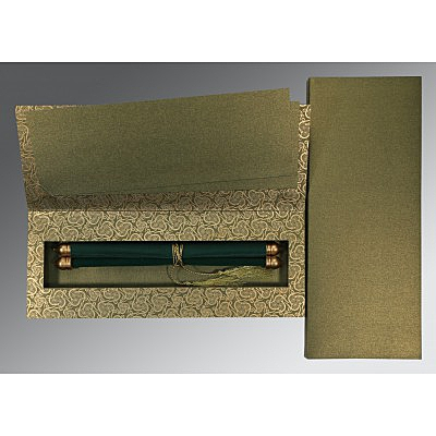 Green Velvet Wedding Card : ASC-5009E