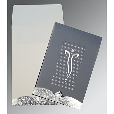 Ivory Foil Embossed Wedding Invitation : AIN-2279
