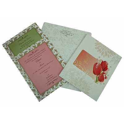Ivory Matte Box Themed - Foil Stamped Wedding Invitation : AS-1825 - A2zWeddingCards