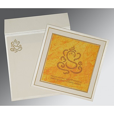 Ivory Matte Embossed Wedding Invitations : AIN-2040 - A2zWeddingCards