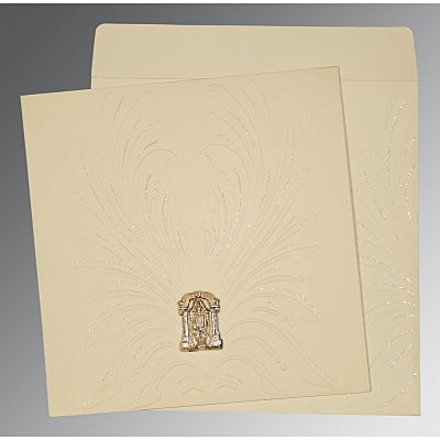 Ivory Matte Embossed Wedding Invitations : ASO-1188 - A2zWeddingCards