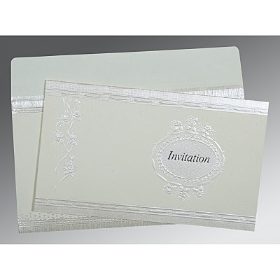 Ivory Matte Foil Stamped Wedding Card : AIN-1328
