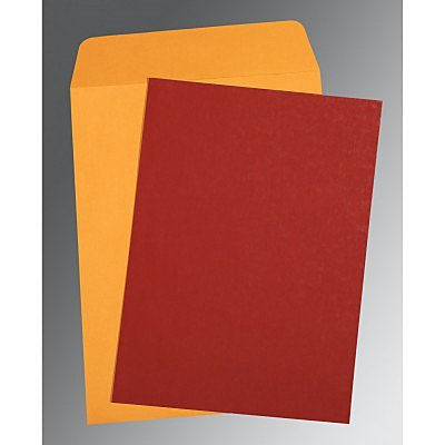 Red Matte Wedding Invitation : AP-0031