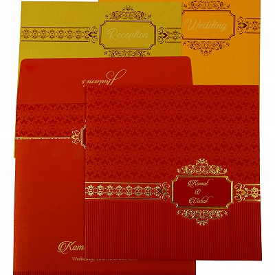 Red Shimmery Foil Stamped Wedding Invitation : AD-1902