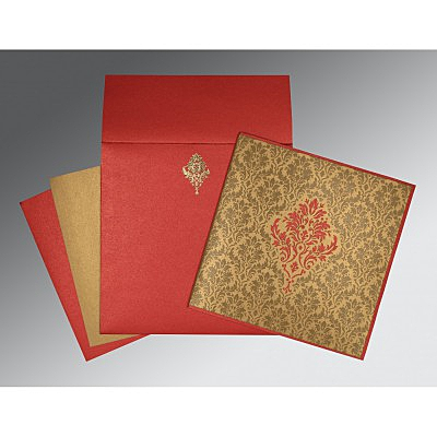 Shimmery Damask Themed - Laser Cut Wedding Invitation : AIN-1494 - A2zWeddingCards