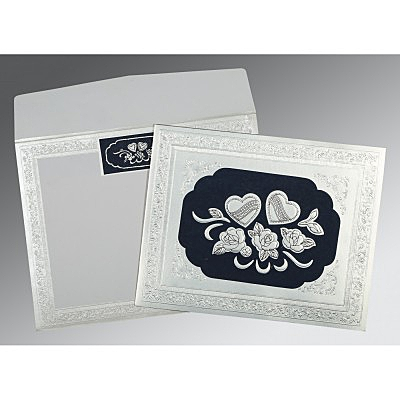Shimmery Floral Themed - Embossed Wedding Invitation : AS-1325 - A2zWeddingCards