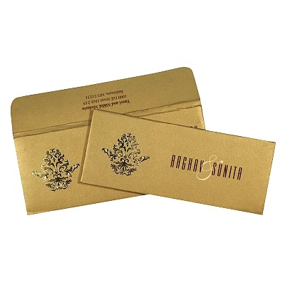Shimmery Pocket Themed - Screen Printed Wedding Invitations : ARU-1727 - A2zWeddingCards