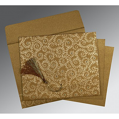 Shimmery Screen Printed Wedding Invitation : AS-8217C - IndianWeddingCards